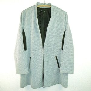 Alex & Olivia Black and White Graphic Jacket XL